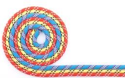 Rode blauwe gele kabelspiraal Stock Foto
