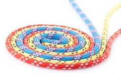 Rode blauwe gele kabelspiraal Royalty-vrije Stock Afbeeldingen