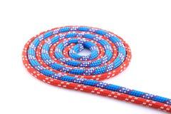 Rode blauwe kabelspiraal Stock Foto