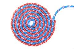 Rode blauwe kabelspiraal Stock Afbeeldingen