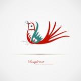Rode blauwe vogel Royalty-vrije Stock Afbeeldingen