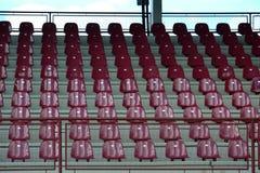 Rode bleachers Stock Afbeelding