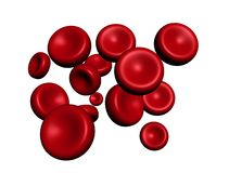 Rode bloedcellen Royalty-vrije Stock Afbeelding
