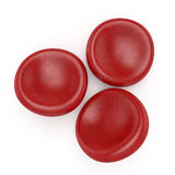 Rode bloedcellen Royalty-vrije Stock Foto