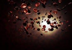 Rode bloedcellen Stock Fotografie