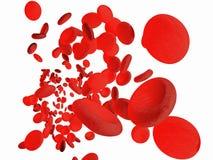 Rode bloedcellen stock illustratie