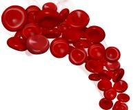 Rode bloedcellen Royalty-vrije Stock Foto's