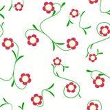 Rode Bloem Naadloos op Witte Vector stock foto