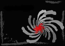 Rode bloem op een zwarte achtergrond Stock Illustratie