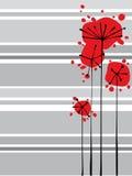 Rode bloemen Stock Foto