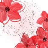 Rode bloemen Royalty-vrije Stock Afbeelding