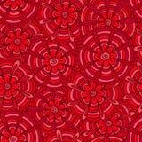 Rode bloemen met stroken Stock Afbeeldingen