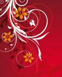 Rode bloemenabstractie Stock Foto's
