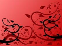 Rode BloemenAchtergrond Stock Foto
