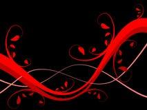 Rode BloemenAchtergrond Stock Foto's