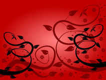 Rode BloemenAchtergronden royalty-vrije illustratie