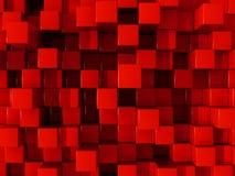 Rode blokkenachtergrond Royalty-vrije Stock Afbeelding