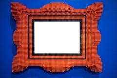 Rode blokkenomlijsting stock foto