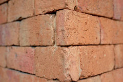 Rode Blokmuur Stock Afbeeldingen