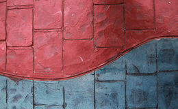 rode &blue-voetpadachtergrond Royalty-vrije Stock Afbeelding