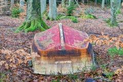 Rode bodemboot Stock Afbeelding