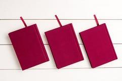Rode boeken Royalty-vrije Stock Afbeeldingen