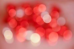 Rode bokeh Royalty-vrije Stock Afbeelding