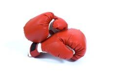 Rode bokshandschoen Stock Fotografie