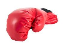 Rode bokshandschoen Royalty-vrije Stock Afbeelding