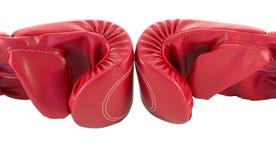 Rode bokshandschoen Royalty-vrije Stock Foto's