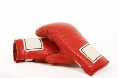 Rode bokshandschoenen stock afbeeldingen