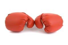 Rode bokshandschoenen Stock Foto's