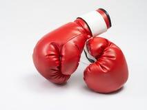 Rode bokshandschoenen Stock Afbeelding