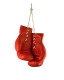 Rode bokshandschoenen Royalty-vrije Stock Afbeelding