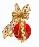 Rode bont-boom bal Stock Afbeeldingen
