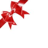 Rode boog die op wit wordt geïsoleerdl Eps 10 Stock Fotografie