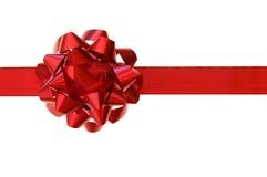 Rode boog, gift Stock Afbeelding