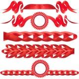 Rode boog, gift, de toekenning. Stock Fotografie