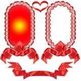 Rode boog, gift, de toekenning. Stock Afbeelding