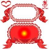 Rode boog, gift, de toekenning. Stock Afbeeldingen