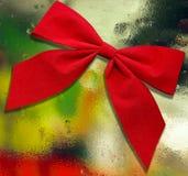 Rode boog op abstracte achtergrond Stock Fotografie