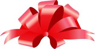 Rode Boog Vector illustratie op witte achtergrond Kan gebruik voor decoratiegiften, groeten, vakantie, enz. zijn Stock Afbeelding