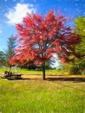 Rode boom 02, Digitale Kunst door Afonso Farias stock foto's