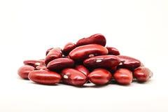 Rode boon of rode die nierboon op witte achtergrond wordt geïsoleerd Stock Foto's