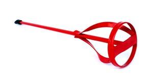 Rode boor-bevestigbare verfmixer. Royalty-vrije Stock Fotografie