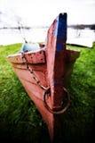 Rode boot Stock Afbeelding