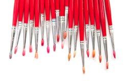 Rode borstels Royalty-vrije Stock Afbeeldingen