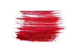 Rode borstelslag op witte achtergrond Royalty-vrije Stock Fotografie