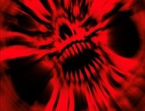 Rode boze vampierschedel Illustratie in genre van verschrikking vector illustratie