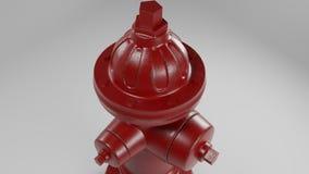 Rode brandkraan die op wit met een paar versleten vlekken en roest 3d illustratie wordt ge?soleerd vector illustratie